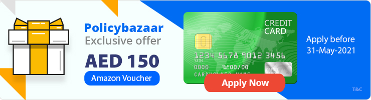 Amzon Voucher on Credit cards-policybazaar.ae