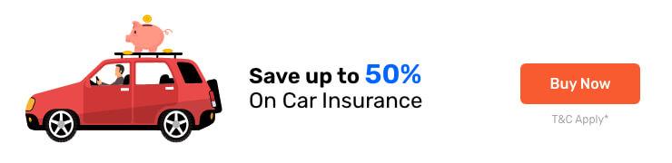 Car insurance offer banner
