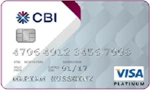 CBI Visa Platinum Credit Card
