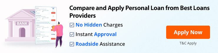 Compare and apply personal loan from best providers