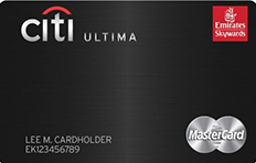 Best Travel Credit Cards in UAE - Emirates Citibank Ultima Credit card