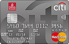 Emirates Citibank World Credit Card