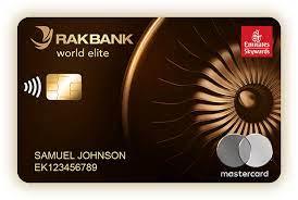 RAKBANK World Elite Mastercard Credit Card