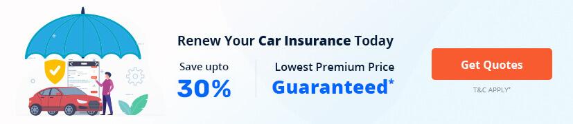 renew car insurance offer banner