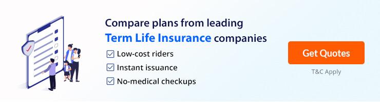 term insurance offer banner